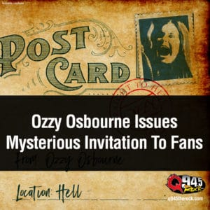Ozzy Osbourne Issues Mysterious Invitation To Fans 2
