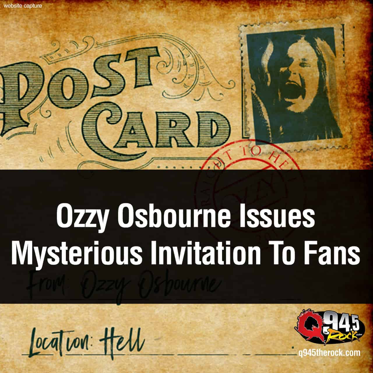 Ozzy Osbourne Issues Mysterious Invitation To Fans
