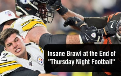 """There Was an Insane Brawl at the End of """"Thursday Night Football"""" here's the video"""