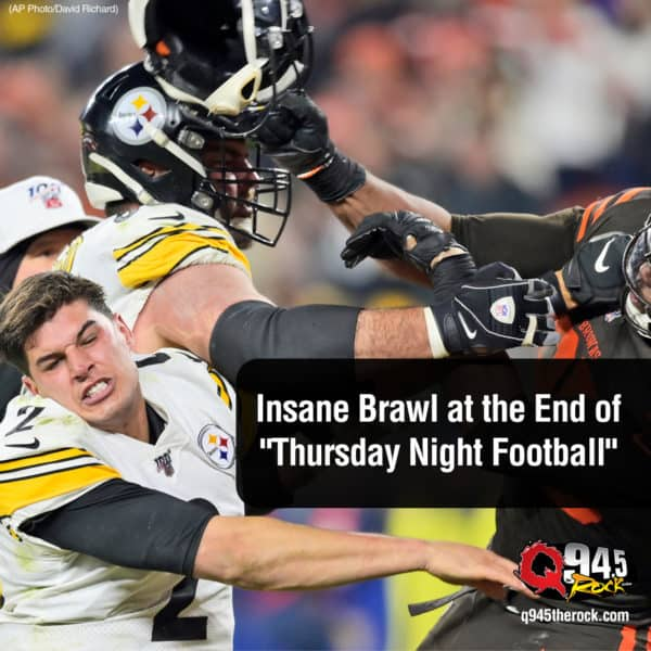 "There Was an Insane Brawl at the End of ""Thursday Night Football"" here's the video"
