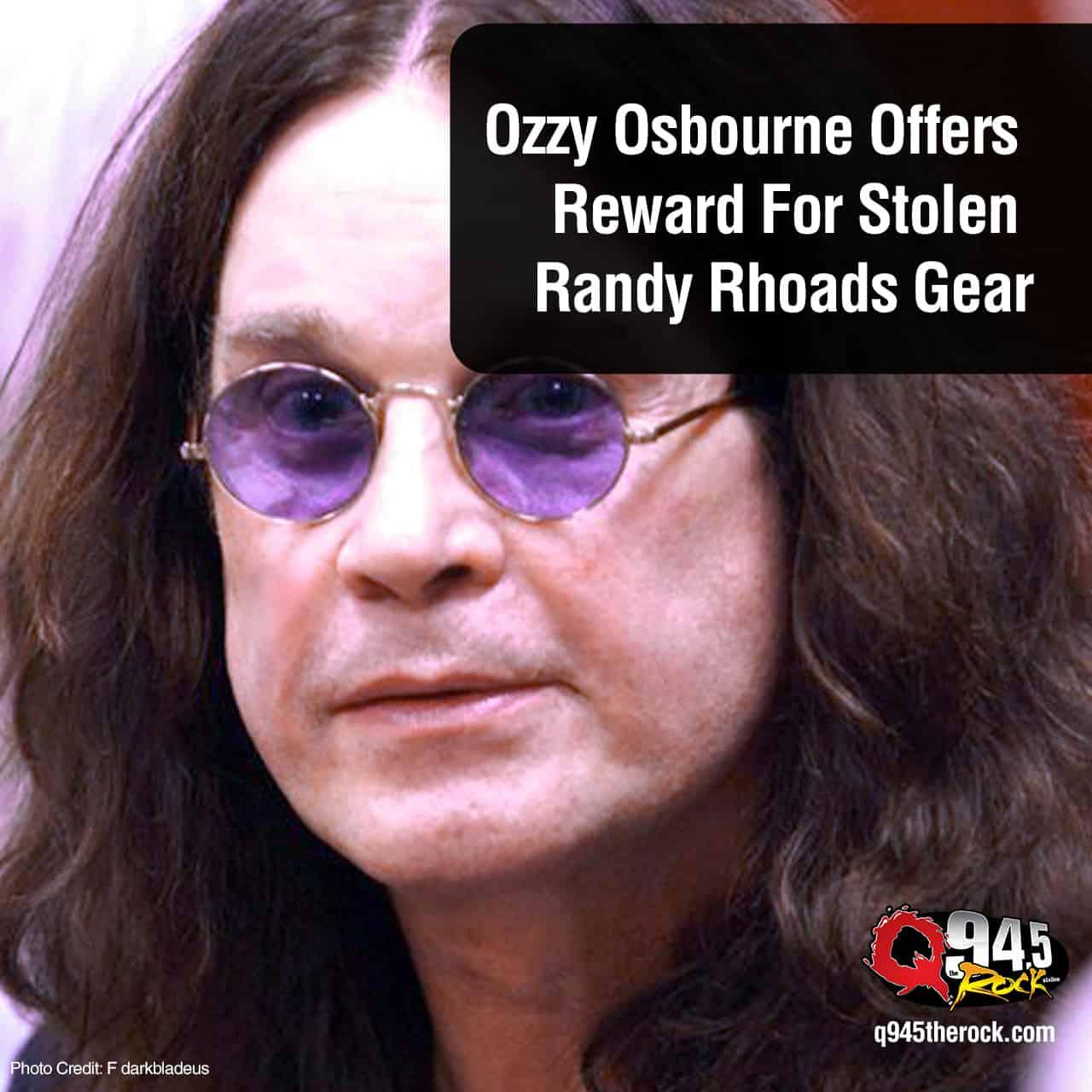 Ozzy Osbourne Offers Reward For Stolen Randy Rhoads Gear
