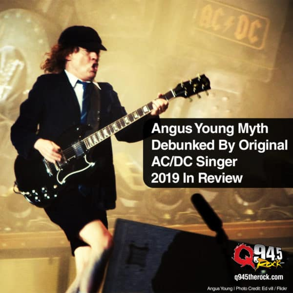 Angus Young Myth Debunked By Original AC/DC Singer 2019 In Review