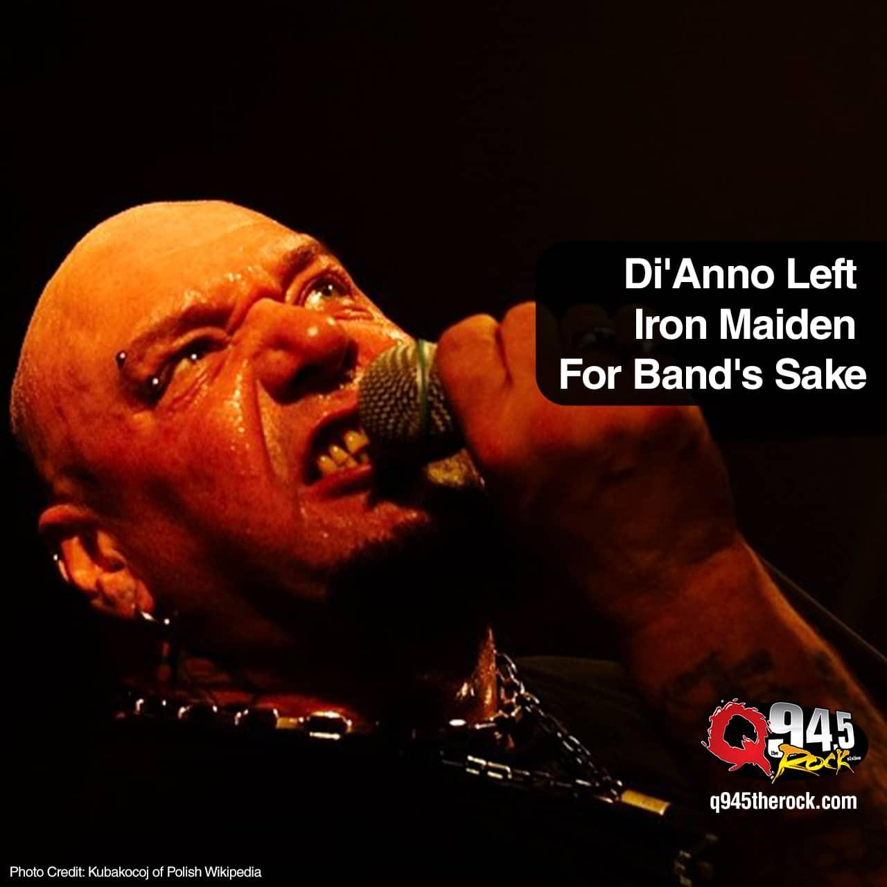 Di'Anno Left Iron Maiden For Band's Sake