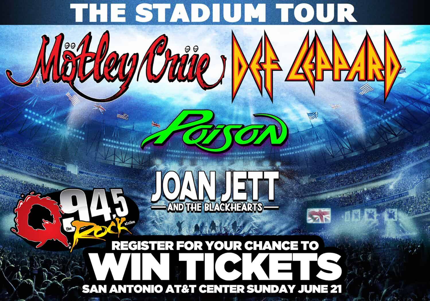 Register for your chance to win tickets to see this incredible Stadium Tour!