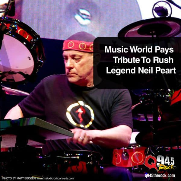 Music World Pays Tribute To Rush Legend Neil Peart