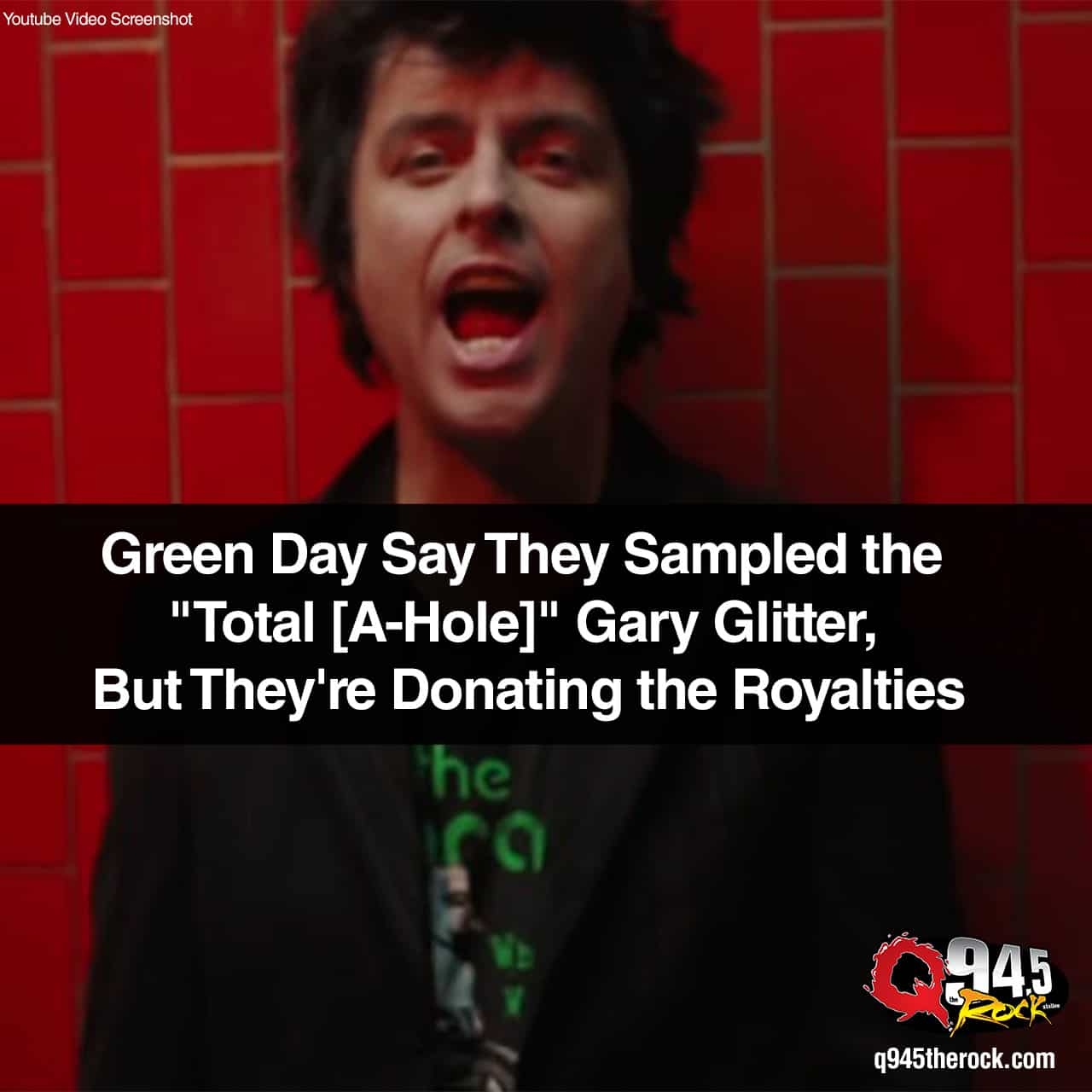 "Green Day Say They Sampled the ""Total [A-Hole]"" Gary Glitter, But They're Donating the Royalties"
