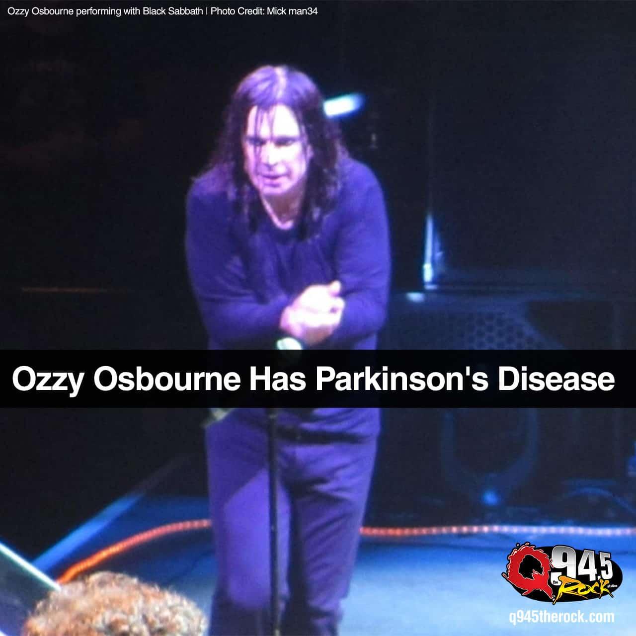 Ozzy Osbourne Has Parkinson's Disease 1
