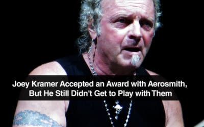 Joey Kramer Accepted an Award with Aerosmith, But He Still Didn't Get to Play with Them