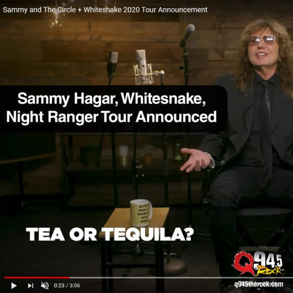 Sammy Hagar, Whitesnake, Night Ranger Tour Announced