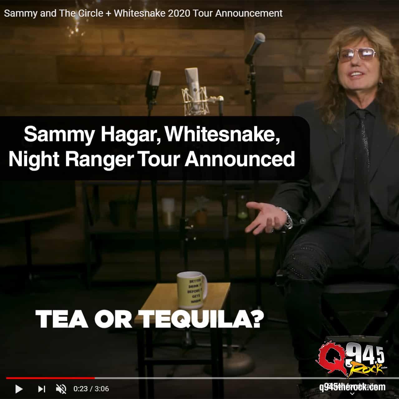 Sammy Hagar, Whitesnake, Night Ranger Tour Announced