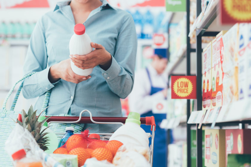 Stay on track with your financial resolutions by making a grocery list