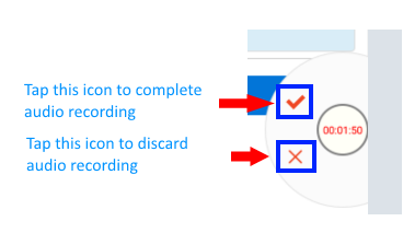 Complete or Discard audio recording