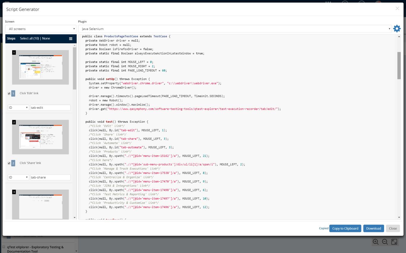 Automated Script Generator – Tricentis qTest Help Center