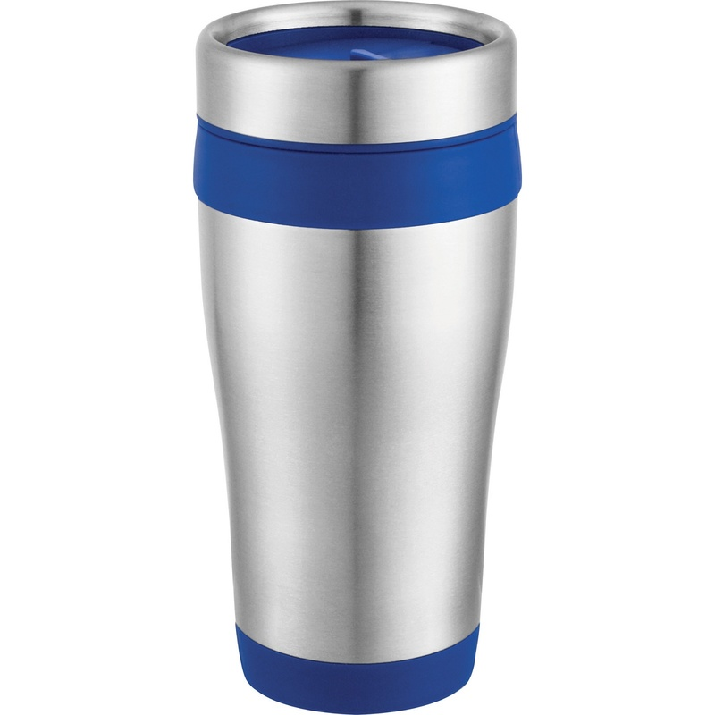 Contrast Trim Stainless Steel Travel Tumbler