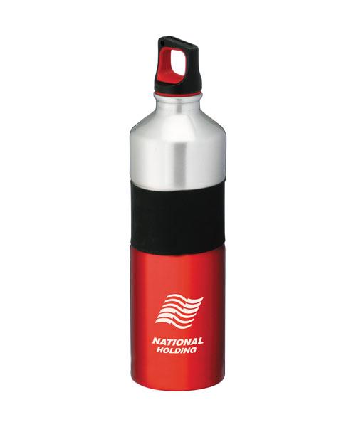 Rubber Grip Aluminum Sports Bottle