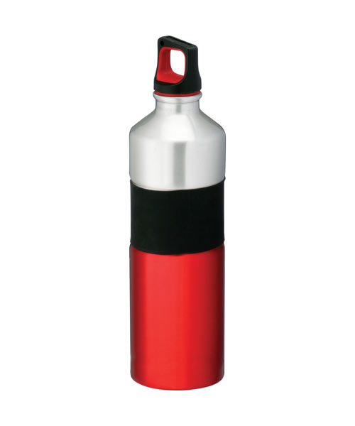Rubber Grip Aluminum Sports Bottle