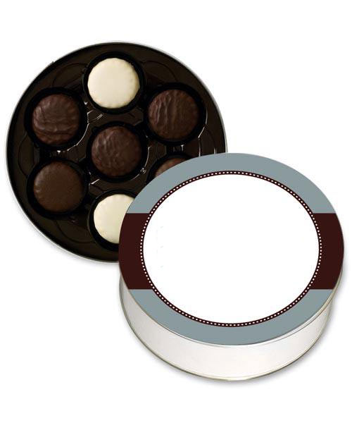 Assorted Chocolate Covered Cookie Tin