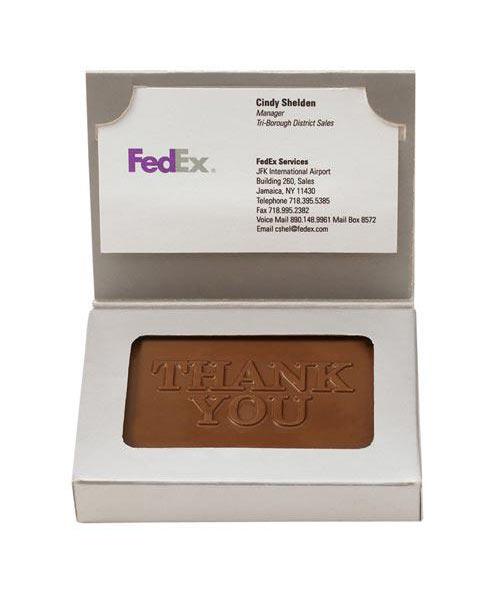 1.25 oz Custom Chocolate Cookie Business Card Box