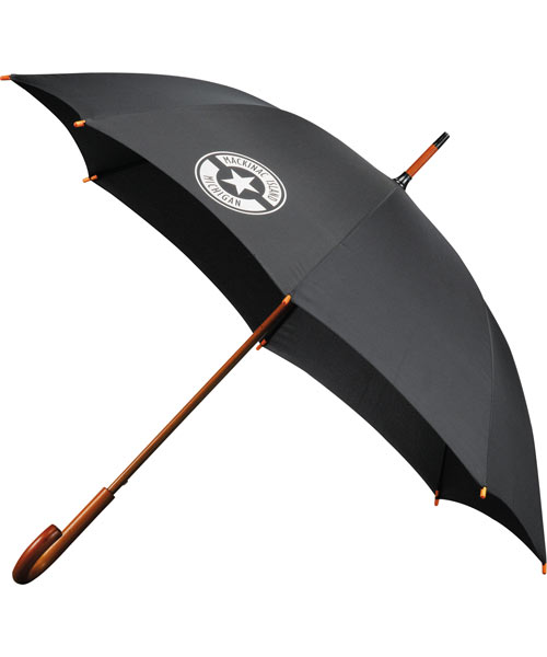 "StrombergBrand 48"" Wood Handle Umbrella"
