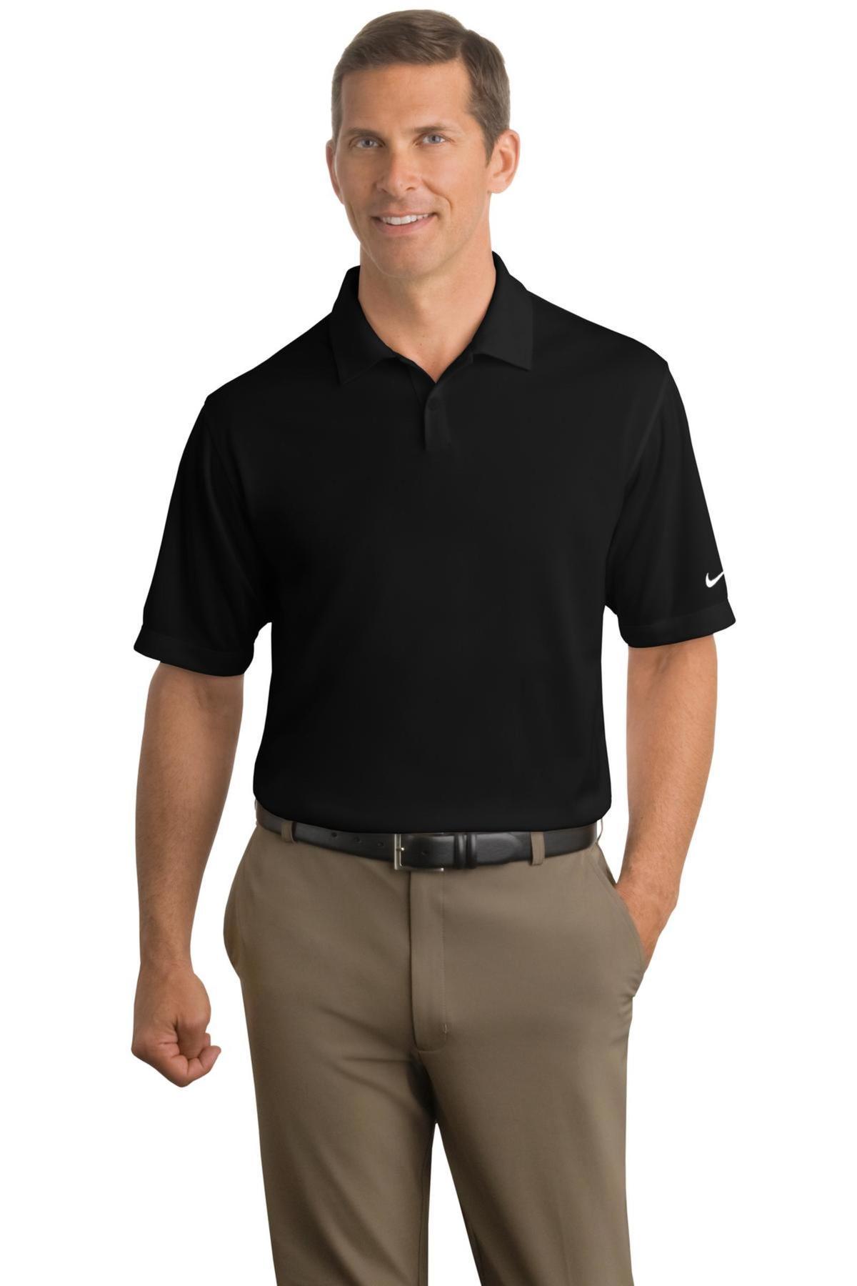 22a61f9c6 Nike Golf Embroidered Men s Dri-FIT Pebble Texture Polo - Queensboro