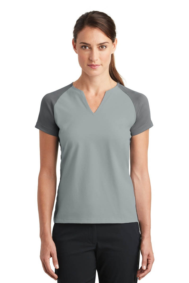 Nike Golf Women's Dri-FIT Stretch Woven V-Neck Top