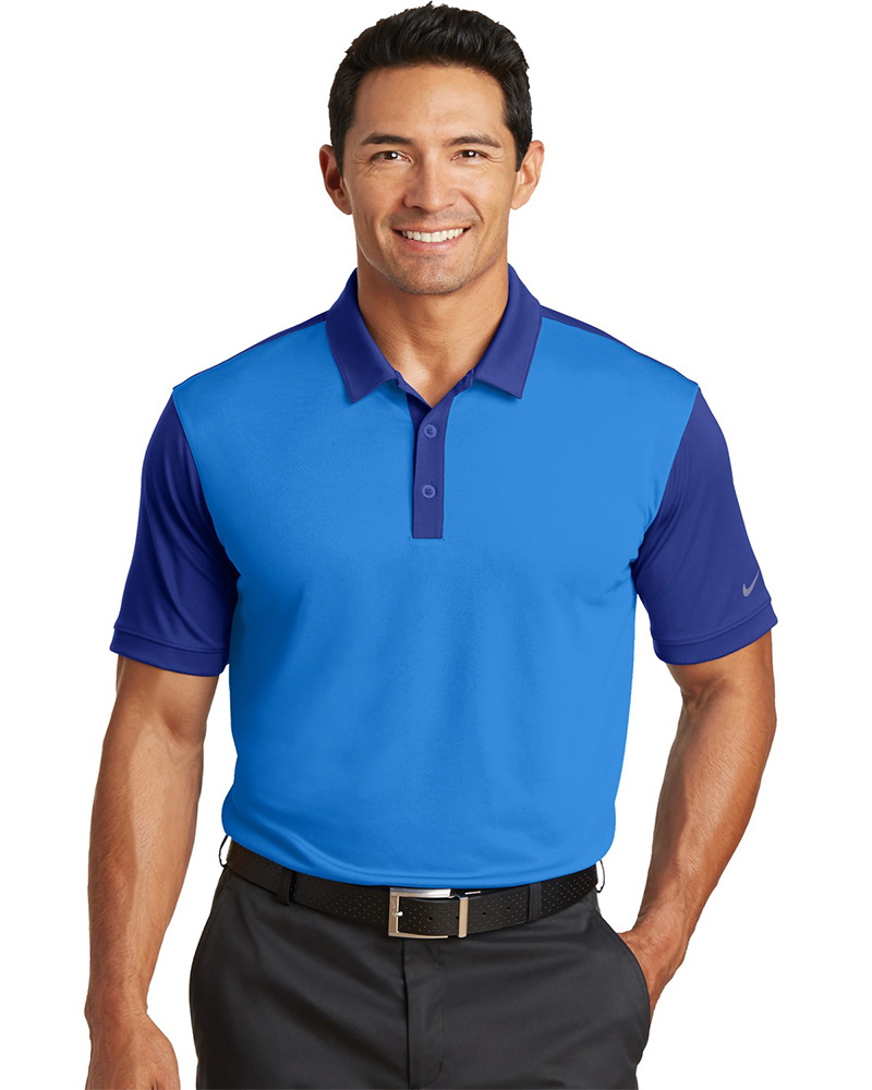 b92b47a5 Nike Golf Embroidered Men's Dri-FIT Colorblock Icon Polo - Queensboro