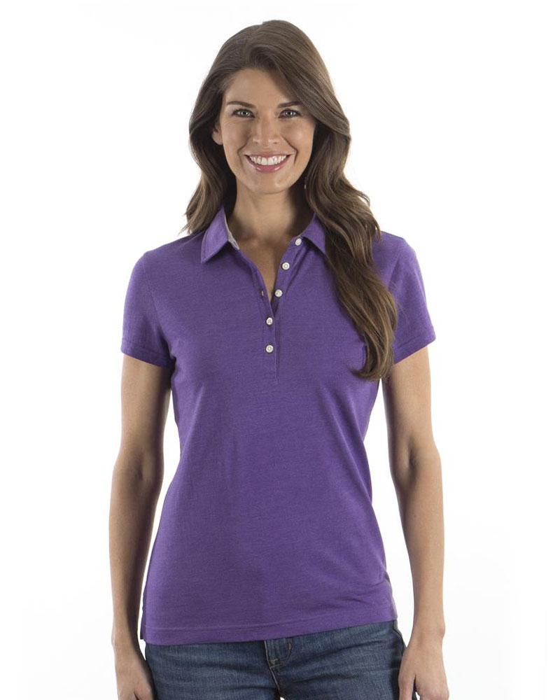 IZOD Women's Heather Jersey Polo