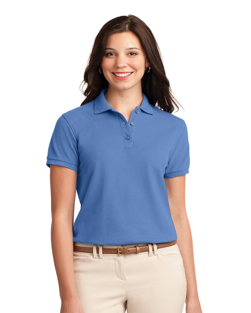 Embroidered polo shirts women queensboro for Woman s polo shirts