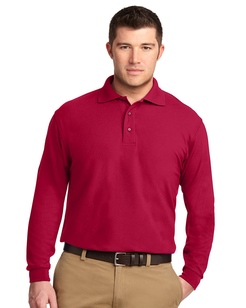 Port Authority Long Sleeve Silk Touch Sport Shirt