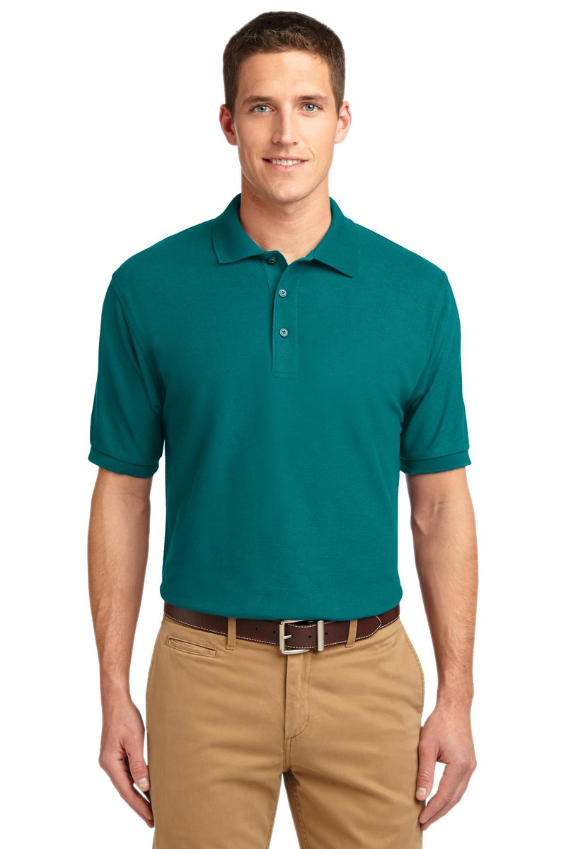 Printed Port Authority Silk Touch Pique Polo