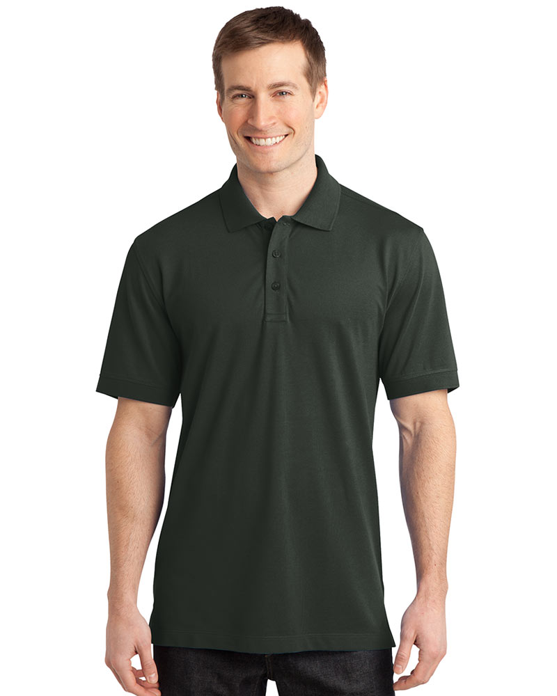 Port Authority Embroidered Men's Stretch Pique Polo