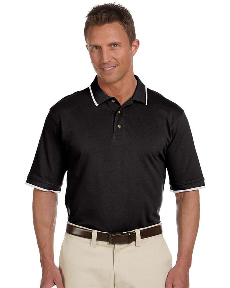 SPECIAL ORDER - Harriton Ringspun Cotton Pique Polo with Tip