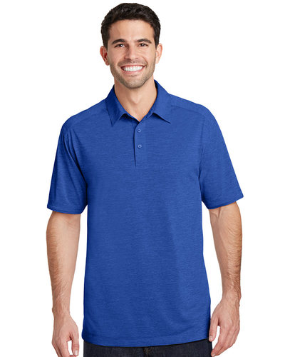 Port Authority Embroidered Men's Digi Heather Performance Polo