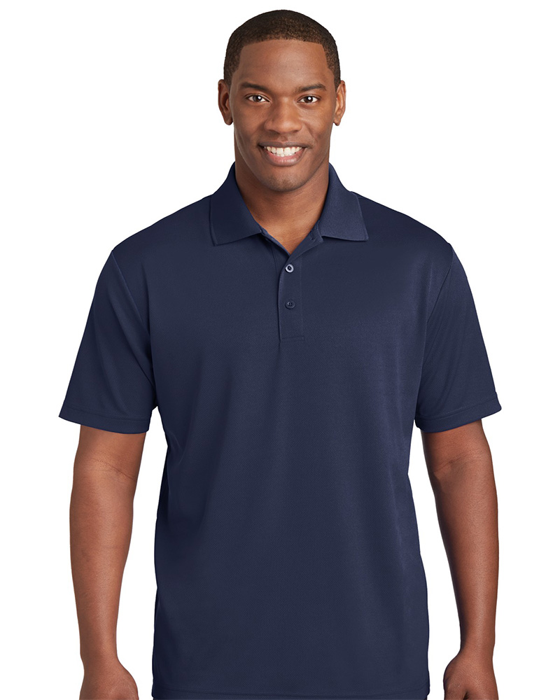 Sport-Tek Printed Men's 100% Performance RacerMesh Polo