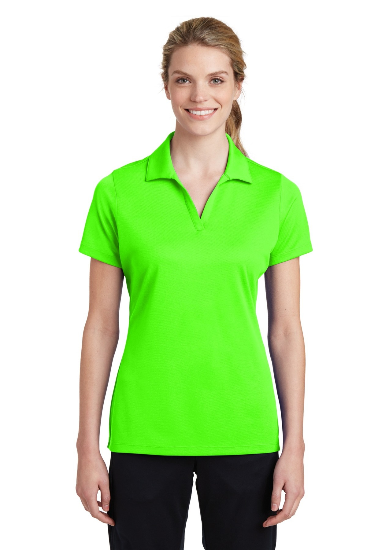 Sport Tek Embroidered Womens 100 Performance Racermesh Polo