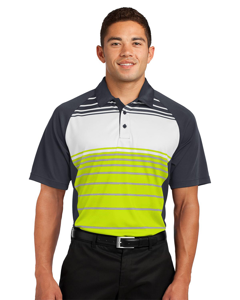 Sport-Tek Embroidered Men's Dry Zone Sublimated Stripe Polo
