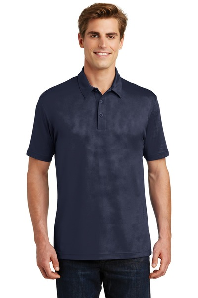 Sport-Tek Embroidered Men's Embossed PosiCharge Tough Polo