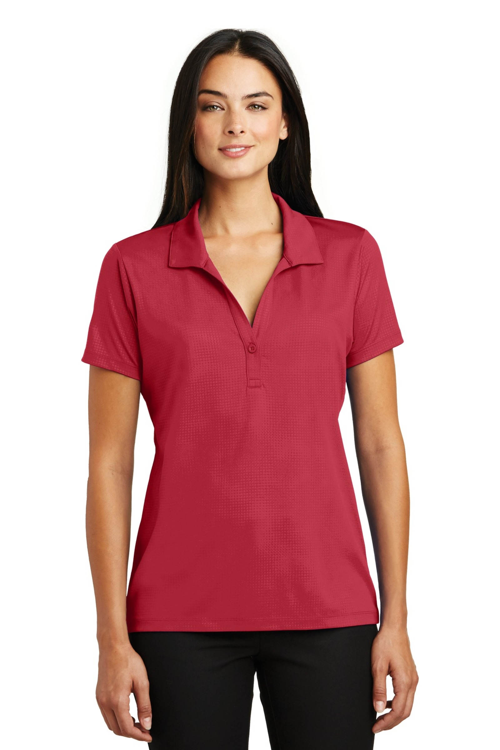 Sport-Tek Women's Embossed PosiCharge Tough Polo