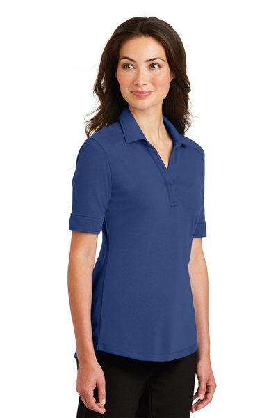 Port Authority Embroidered Women's Silk Touch Interlock Performance Polo