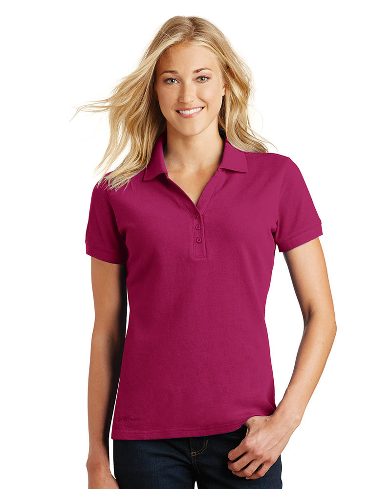 Eddie Bauer Embroidered Women's Cotton Pique Polo