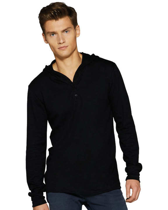 Borough Hooded Long Sleeve Jersey Henley