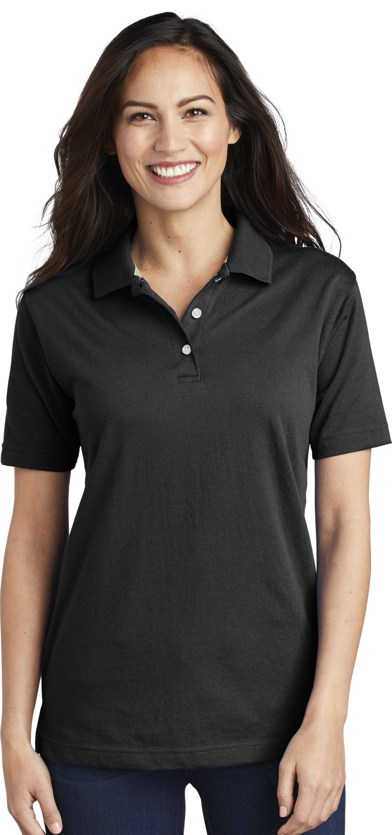 Queensboro LIFT Embroidered Women's Luxury Hybrid Jersey Polo