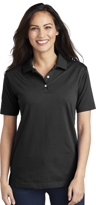 Queensboro LIFT Women's Luxury Hybrid Jersey Polo