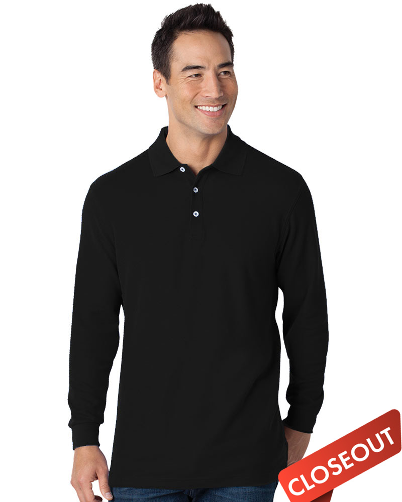 Queensboro LIFT Luxury Hybrid Long Sleeve Jersey Polo