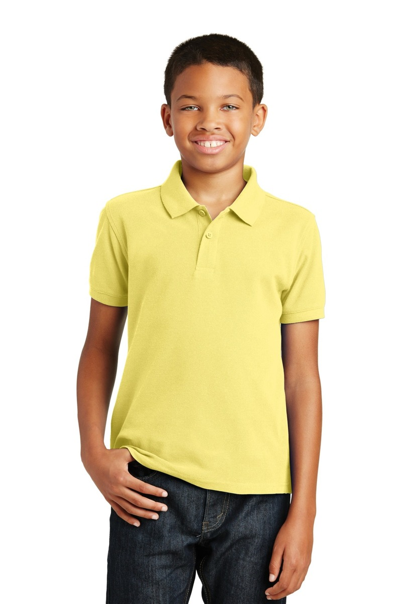 Port Authority Embroidered Youth Core Classic Pique Polo