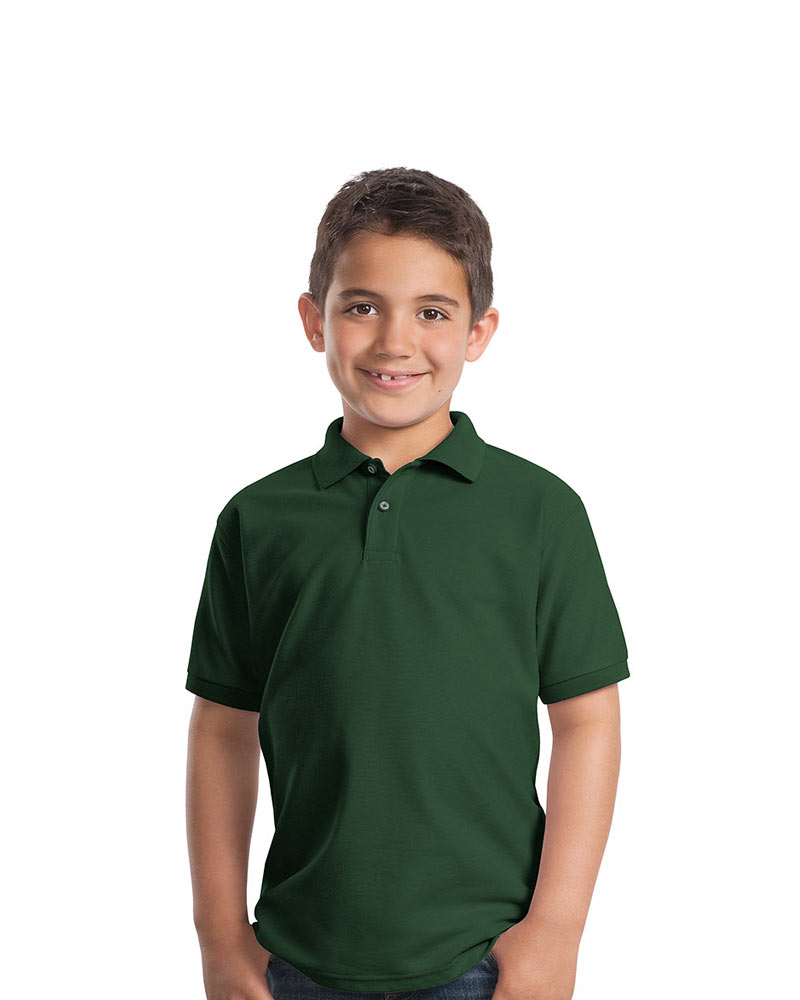 Port Authority Youth Silk Touch Pique Polo