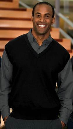 Port Authority Fine Gauge V-neck Sweater Vest