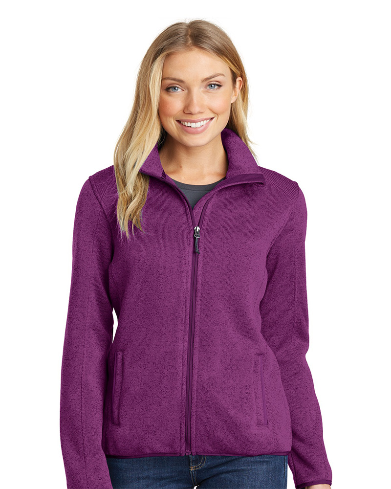 Port Authority Ladies Sweater Fleece Jacket