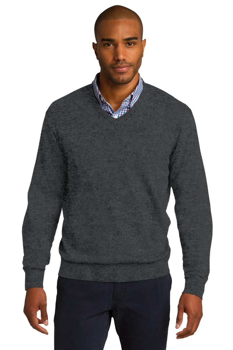 Port Authority Embroidered Men's V-Neck Sweater