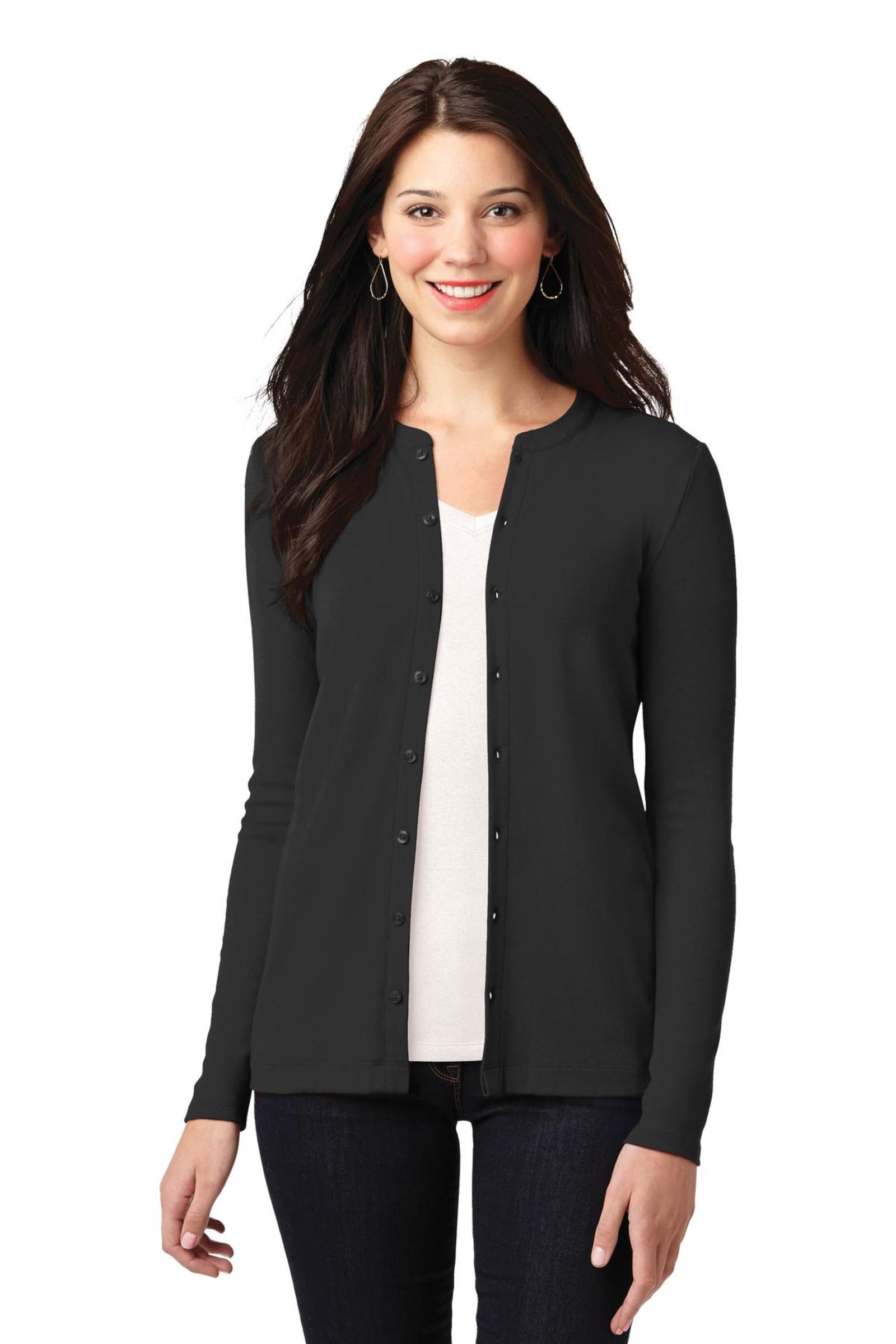 Port Authority Embroidered Women's Concept Stretch Button-Front Cardigan